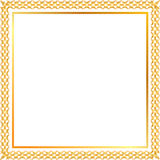 Spica gold frame. Golden floral frame with ears Royalty Free Stock Image