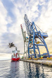 SPICA from Hamburg anchors in the new harbor of Arrecife Stock Photography
