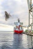 SPICA from Hamburg anchors in the new harbor of Arrecife Stock Photo