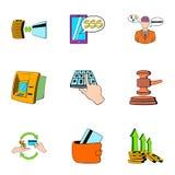 Spica icons set, cartoon style Royalty Free Stock Photos