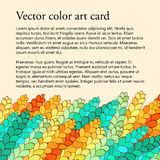 Spica-Roggenkarte, Tracerymuster, handgemacht, gefärbt Stockbild