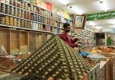 Spice пирамида рынка на местном магазине в Иерусалиме Израиле Стоковое фото RF