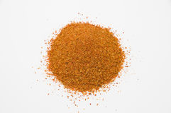 The spice. The chili spice on the white background Royalty Free Stock Images