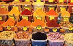 Spice. Market in Grand Bazaar, Istanbul-Turkey Stock Images