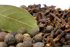 Spice. S to flavor foods,all, cloves and bay leaf Stock Photography