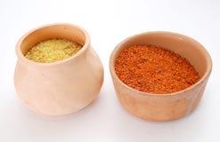 Spice. On ceramics kitchen cups Stock Photo