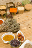 Spice assortment Royalty Free Stock Photography