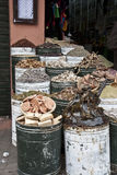 Spice Barrel Display Stock Images