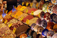 Spice bazaar in Istanbul Stock Images
