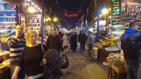 The Spice Bazaar Misir Carsisi or Egyptian Bazaar in Istanbul. ISTANBUL, TURKEY - FEBRUARY 15, 2016: The Spice Bazaar Misir Carsisi or Egyptian Bazaar in stock video footage
