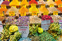 Spice bazaar shops in Istanbul. Stock Photos