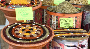 Spice Bazaar, turkish spices for sale in Turkey. Stock Photos