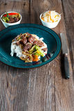 Spice beef with rice. Spice beef with rice and vegetables Royalty Free Stock Photography