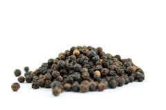 Spice - Black Mustard Seeds. Close up of Black Mustard Seeds on a white background Royalty Free Stock Photography