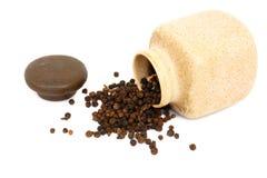 Spice - black pepper Stock Photos