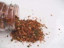 Spice Blend. Against a white background stock photography