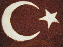 Spice blend, Turkish flag Stock Image