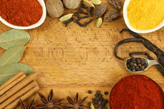 Spice border Stock Photography