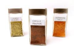 Spice bottles 2 stock photo