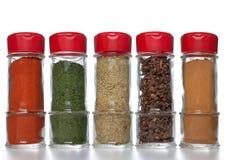 Spice bottles Stock Image