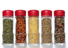 Spice bottles Royalty Free Stock Photos