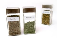 Spice bottles 5 Stock Image