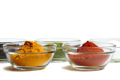Spice bowls Stock Photography