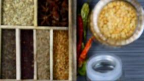 Spice box stock footage