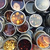 Spice boxes Royalty Free Stock Image