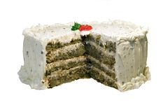 Spice Cake with Cream Cheese Frosting Royalty Free Stock Image