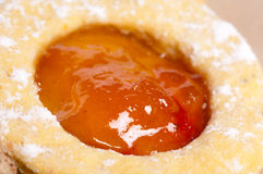 Spice-cakes. Cookies with strawberry jam biscuit Stock Photography