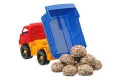 Spice-cakes and the truck Royalty Free Stock Photo