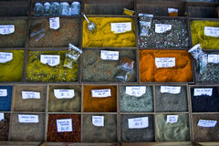 Spice cart in italy Stock Photo