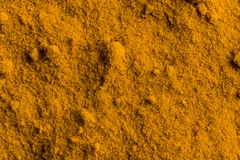 Spice closeup. Close view of yellow oriental spice Stock Images
