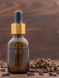 Spice clove essential oil Royalty Free Stock Photography