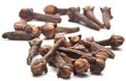 Spice cloves on white. Stock Image
