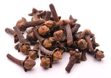Spice cloves on white Stock Photo
