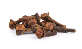 Spice cloves on white background Royalty Free Stock Image