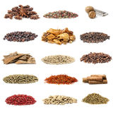 Spice collection. Isolated on white background royalty free stock image