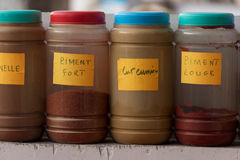 Spice containers Royalty Free Stock Image