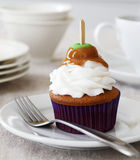 Spice cupcake with caramel apple Stock Photography