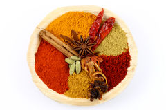 Spice and flavor food ingredients. Bowl of spice and flavor food ingredients Stock Photos