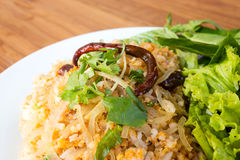 Spice fried rice with pork. Traditional food of Thailand. Stock Photography