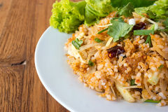 Spice fried rice with pork. Traditional food of Thailand. Stock Images