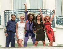 Spice Girls. 10MAY97:  The SPICE GIRLS at the 1997 Cannes Film Festival Stock Photos