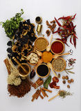 Spice - grain - aroma. Different kind of  asian spices Stock Photos