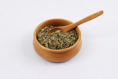 Spice - grain - aroma. Caraway spice on white background royalty free stock photo