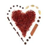 Spice Heart Royalty Free Stock Photos