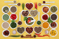 Spice and Herb Abstract Stock Image
