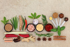 Spice and Herb Abstract royalty free stock photography